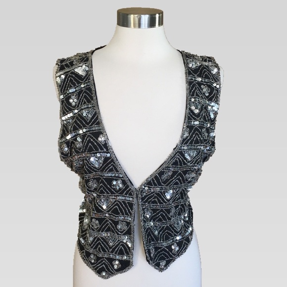 Gunit Jackets & Blazers - Gorgeous Fully Embroidered Silk Sequin Vest M